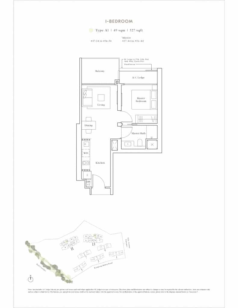 Avenue South Residence Floor Plan 2 Bedroom