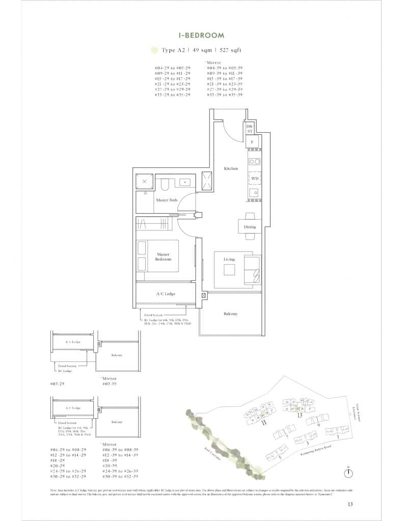 Avenue South Residence Floor Plan 3 Bedroom