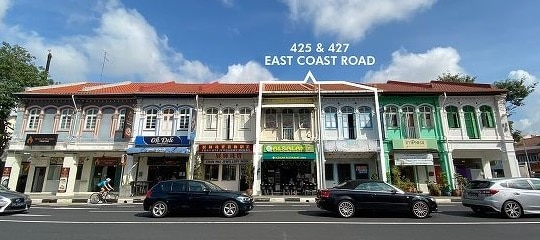 Freehold East Coast Road shophouses going for $7.8 mil