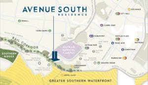 Avenue South Residence Location Map